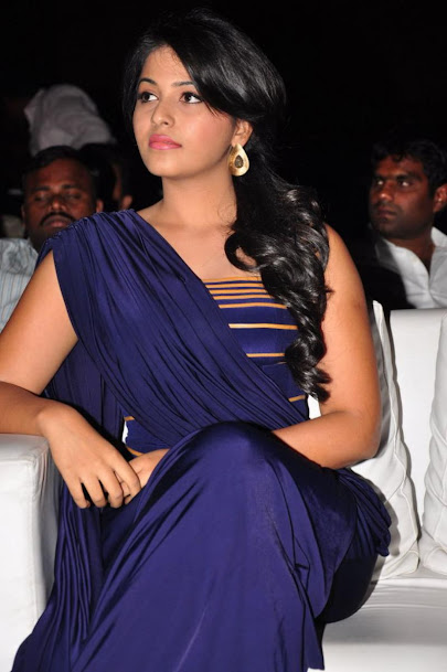 Anjali in blue dress