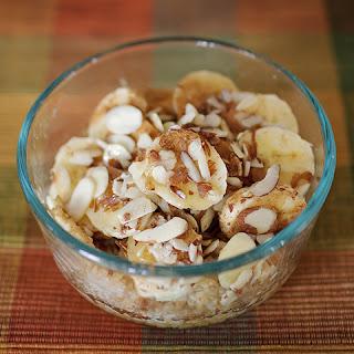 Baked Banana Almond Oatmeal