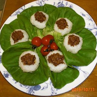 My Mum's Meat Miso Onigiri