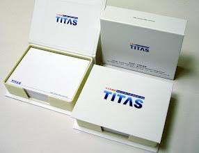 Photo: 紡拓會-台北紡織展 精裝盒式便條紙內頁 9.8x7.2 cm外盒 11.0x8.5 cm