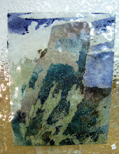 Photo: 'Stones 4', 2010 - fused stained hammered glass, 25x30cms - STUDIO SALE £70