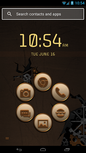 Smart Launcher Steampunk Theme