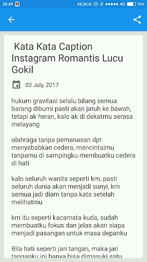 Download Caption I G Lucu Kekinian Google Play Softwares
