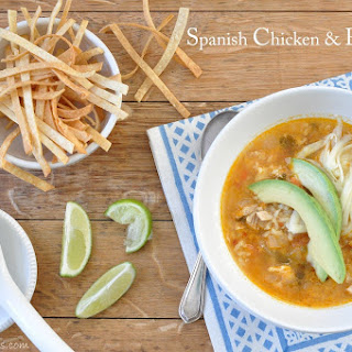 Spanish Chicken and Rice Soup.