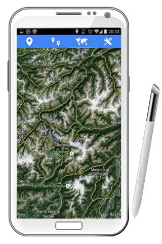 ナビゲーター ライブで GPS の地図