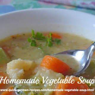 My Super-Easy Homemade Vegetable Soup.