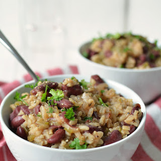 Slow Cooker Vegan Red Beans and Rice.