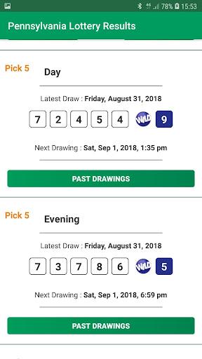 Pennsylvania Lottery Results 1.0 screenshots 4