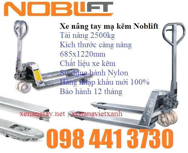 www.123nhanh.com: Xe nâng tay mạ kẽm 2500kg Noblift