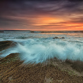 Lima Splash by Krishna Mahaputra - Landscapes Waterscapes