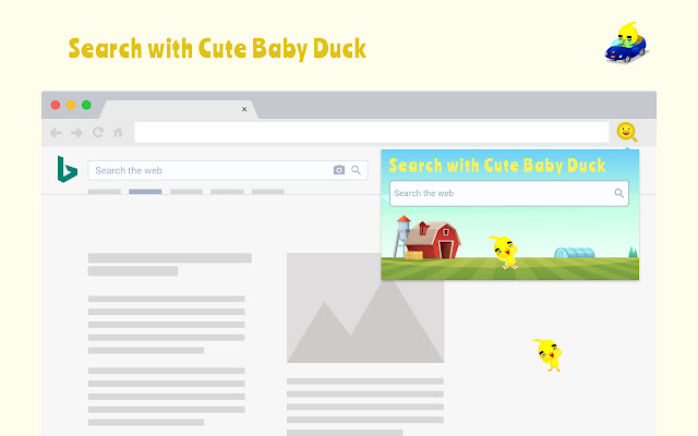 Search with Cute Baby Duck