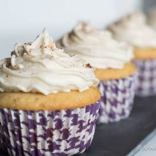 Vanilla Latte Cupcakes With Coffee Buttercream.