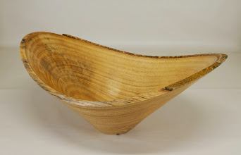 "Photo: Phil Brown 5 3/8"" x 12 1/8"" natural edge bowl [ficus]"