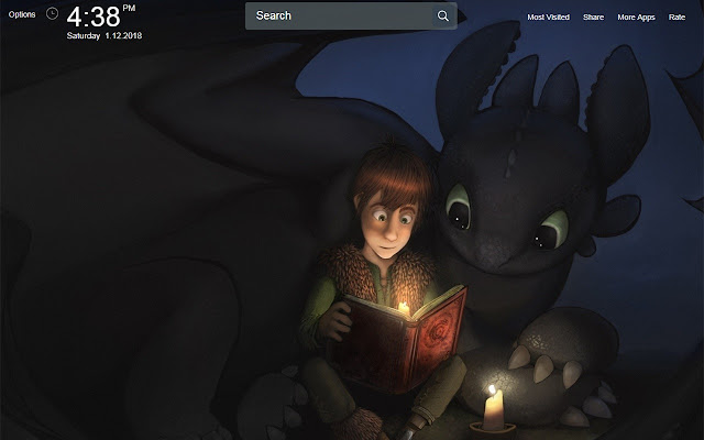 Toothless Wallpapers Theme New Tab