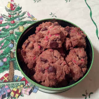 Whole Wheat Peppermint Chocolate Chip Cookies.