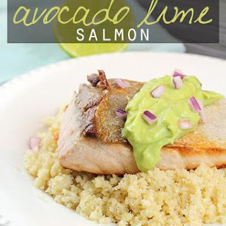 5 Ingredient Avocado Lime Salmon
