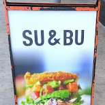 SU and BU bizarre sushi burgers are delicious in Toronto, Ontario, Canada