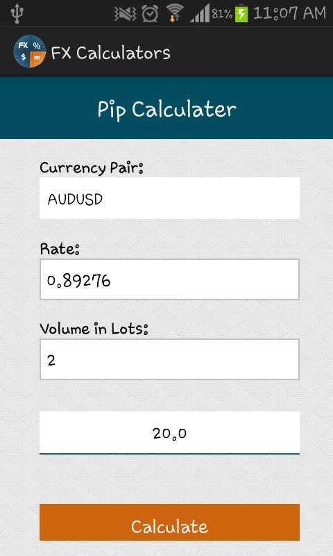 Forex calculator pip