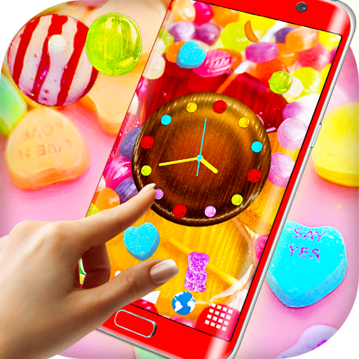 Sweet Candy Clock Live Wallpaper