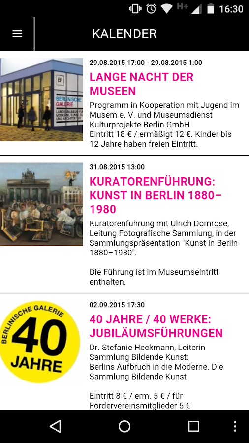 Kunst in Berlin 1870 bis heute – Screenshot