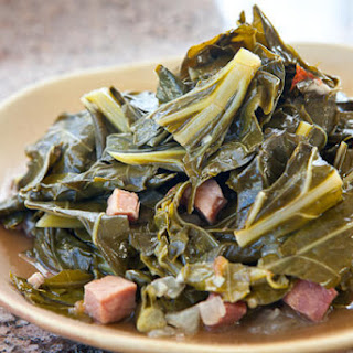 Collard Greens with Ham and Smoked Hock.