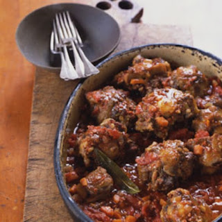 Spanish-Style Oxtails Braised with Chorizo.