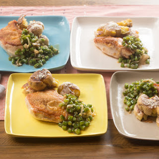 Seared Chicken & Crispy Smashed Potatoes with Braised Green Beans