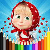 Tải Game Masha And The Bear Coloring Book