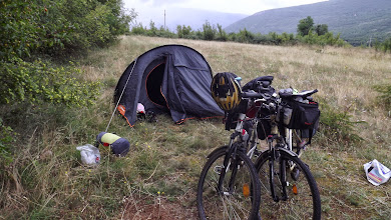 Photo: Wildcamp in valley of Neretva