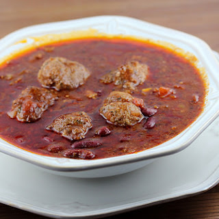Chili and Meatballs Casserole