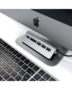 HK Satechi TYPE-C Alu USB Hub & Card Reader Space Gray