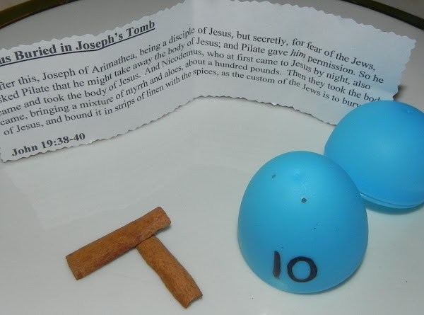 Egg 10Jesus Buried in Joseph's Tomb After this, Joseph of Arimathea, being a disciple...
