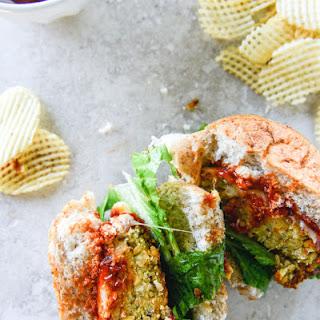 Cheesy Crunchy Crispy Chickpea Burgers