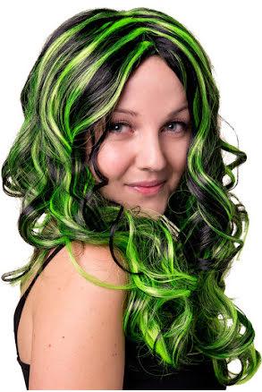 Sirenperuk, svart/grön