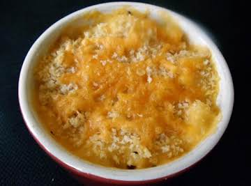 Baked Mac & Cheese for One