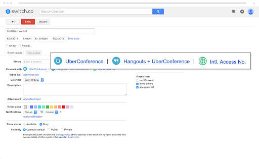 UberConference integrates with Google Calendar for more productive conference calls