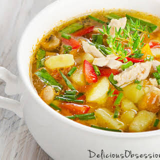 Classic Chicken and Vegetable Soup.