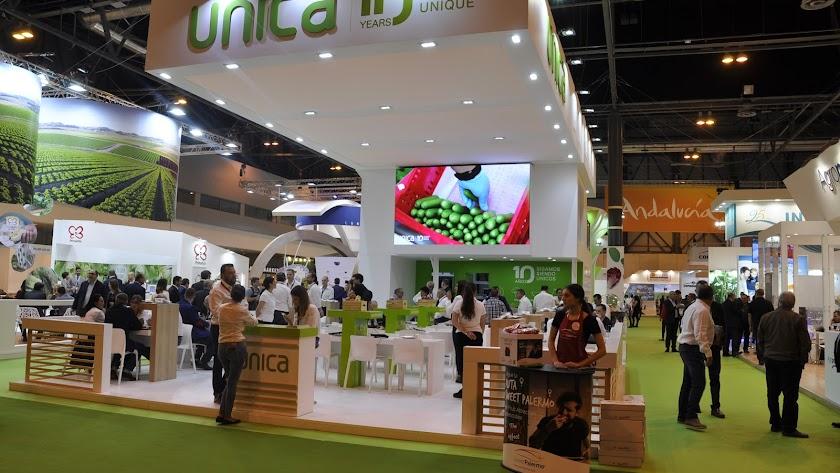 Stand de Única Group en la última edición de Fruit Logística