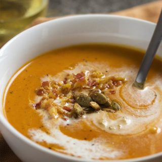 Spicy Roast Pumpkin Soup - Spanish Style