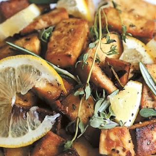 Lemon Herb Baked Tofu Recipe