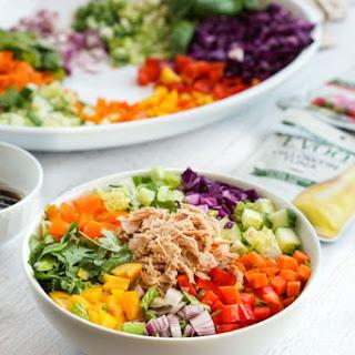 Low Carb Tuna Spring Roll Salad.