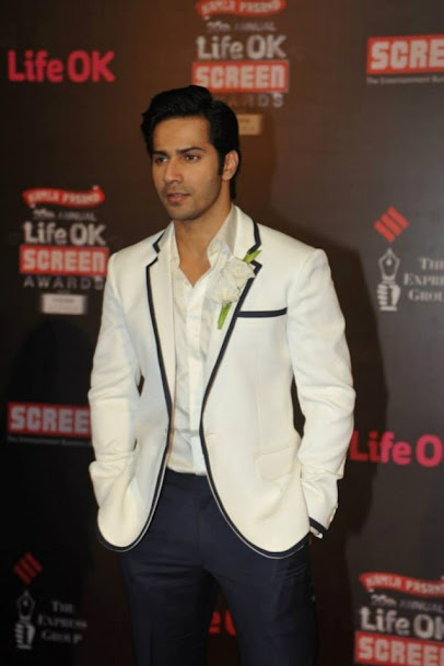 Varun Dhawan at Life OK Screen Awards 2013