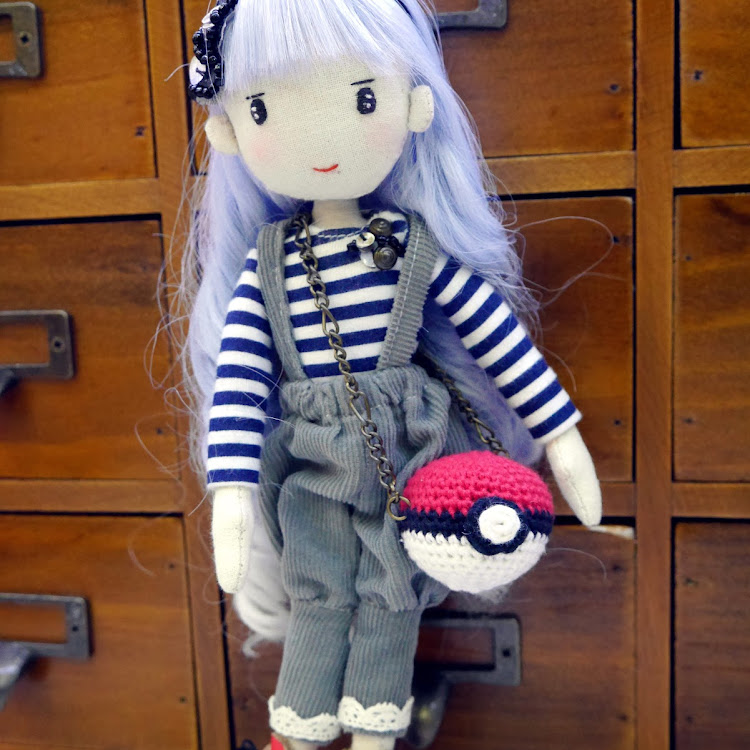 Handmade Doll- Blue hair Lady by Itcheehand Enterprise