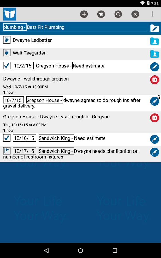 Perinote Organizer- screenshot