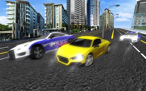 Police Car Thug Gangster Chase - náhled