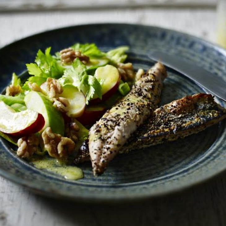 Black Pepper-crusted Mackerel With A Celery Salad