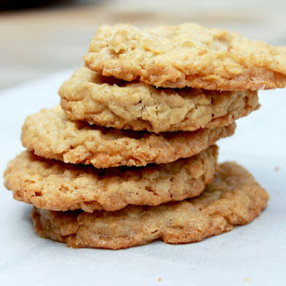 Crispy Salted White Chocolate Oatmeal Cookies