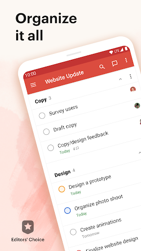 Todoist screenshot 1