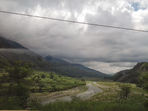 Photo: My attempt  to take photos of the landscape while inside the bus.