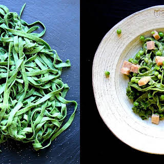How to Make Homemade Spinach Pasta.